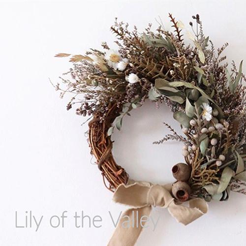 10/1(火)~無くなり次第終了<br>Lily of the Valleyのスワッグ・リースが入荷しました