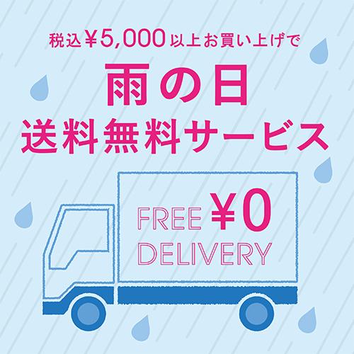~6/24(木)<br>税込5,000円以上お買い上げで雨の日送料無料サービス